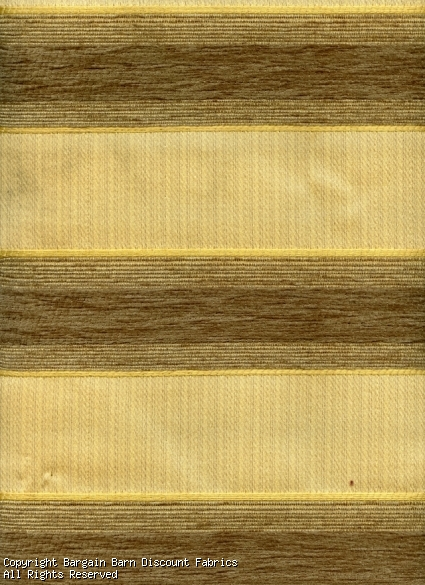 Taupe & Pale Gold Chenille Stripe
