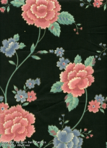 Oriental Floral Screen Print by Warner