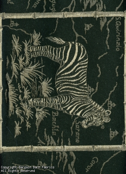 Zebra Pannel Tapestry by the yard