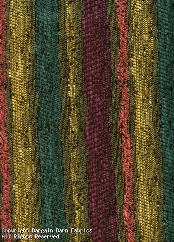 Textured Tapestry Stripe in Plum, Olive, Coral, Gold and Teal
