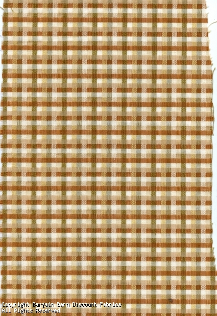 Woven Plaid in Tan & Ivory