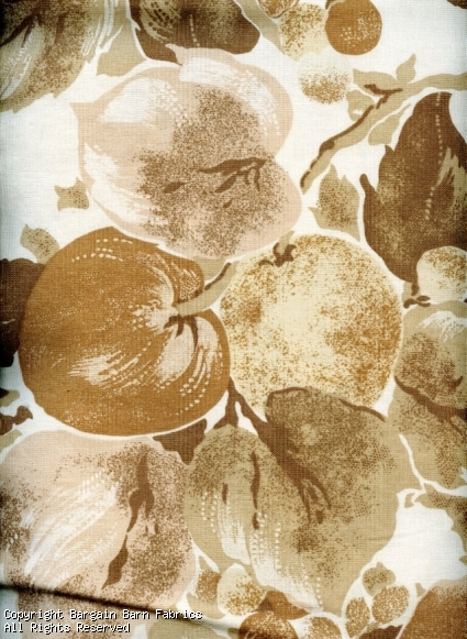 Neutral Fruit Tree Screen Print by Mill Creek Fabrics