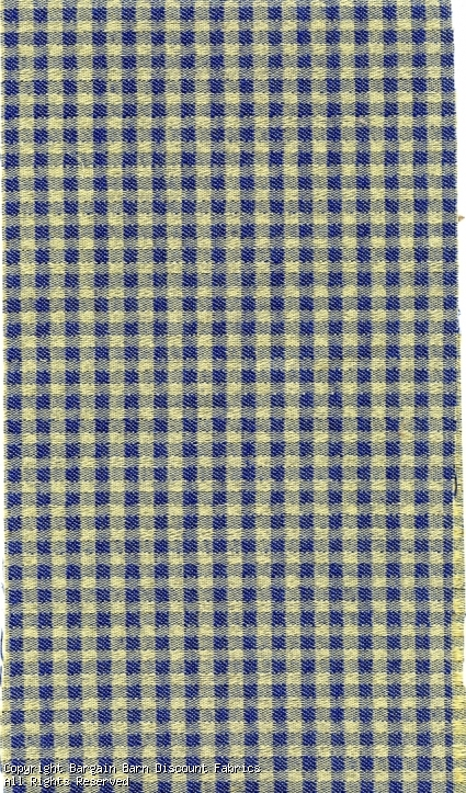 Blue and Yellow Woven Check