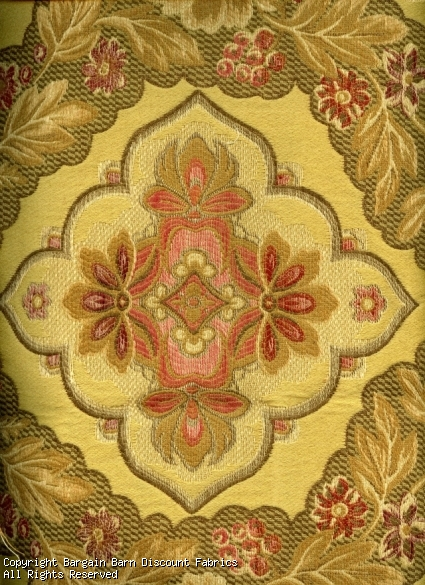 Jaquard Medallion on Rich Gold Tapestry
