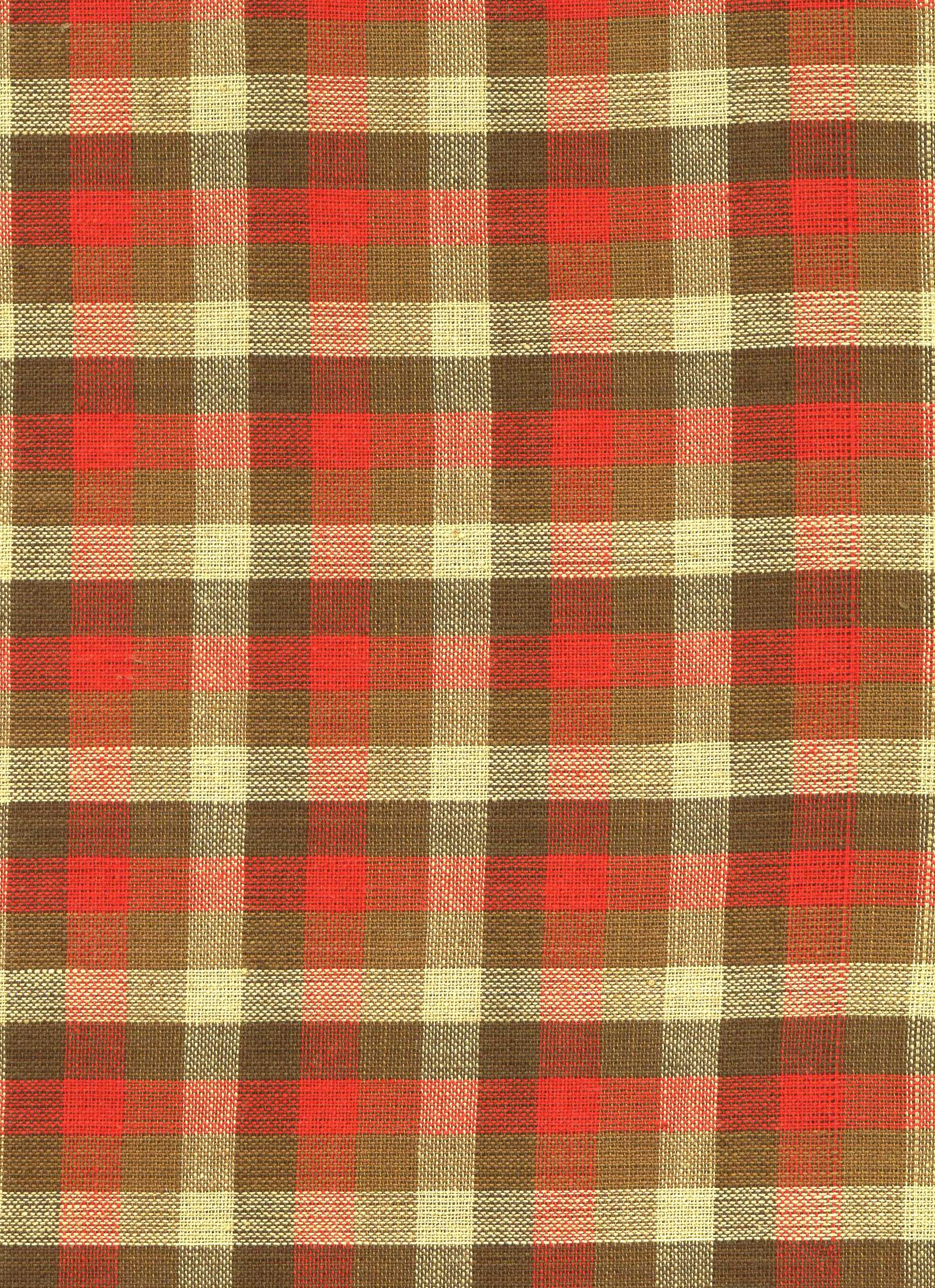 Red, Green and Cream Plaid