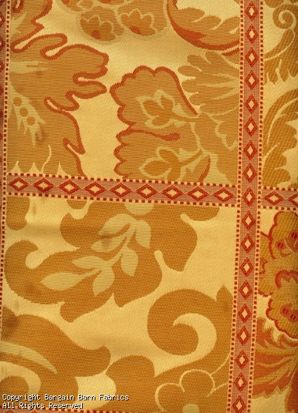 Tuscan Gold and Russet Damask