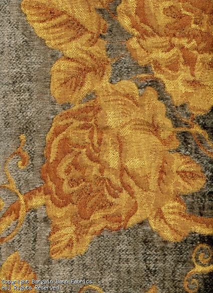 Texas Rose in Golds and Taupe Chenille