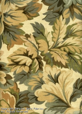 Woodland Naturals in Leaf Pattern Cotton Print