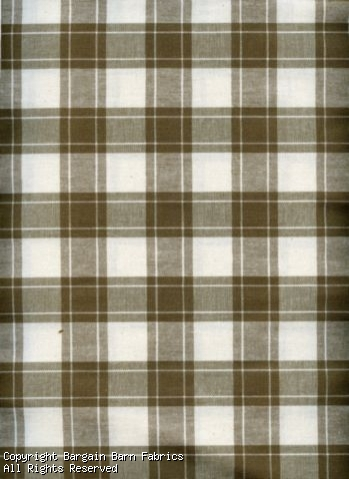 "Taupe and Ivory 1"" Check Cotton"