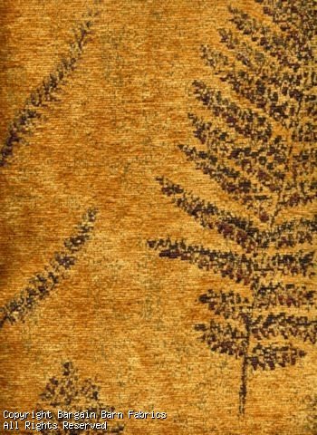 Gold Chenille--Super Quality--Fern Pattern