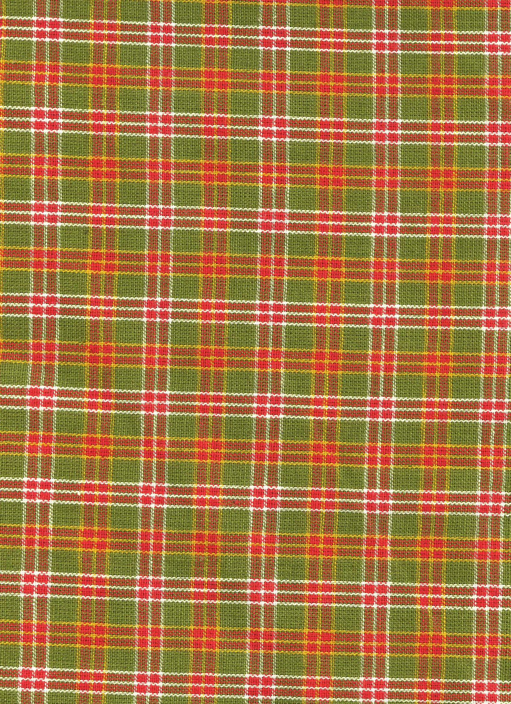 Red, Green and White Plaid
