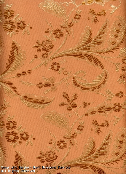 Dusty Peach Jaquard Floral