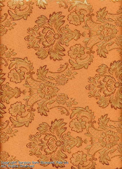 Dusty Peach Jaquard Floral Medallion