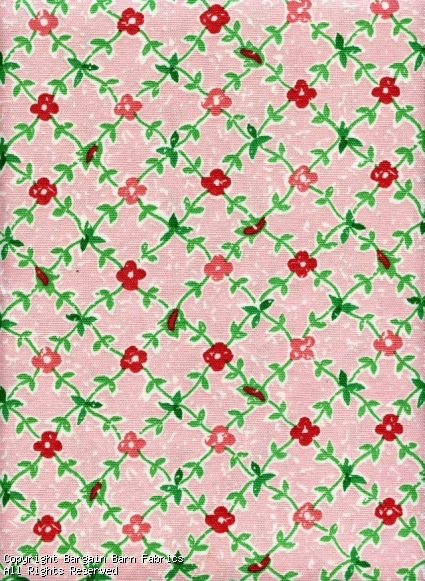 "Pink Rose in Diamond Pattern ""Hideaway"" by Waverly"