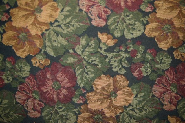 Jewel Tone Floral Tapestry
