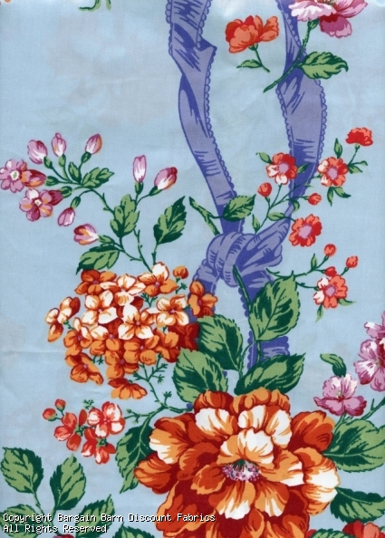 Carmel Fabrics Floral Chintz - Click Image to Close
