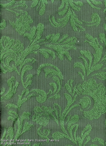 Forest Green Jacquard Wandering Acanthus