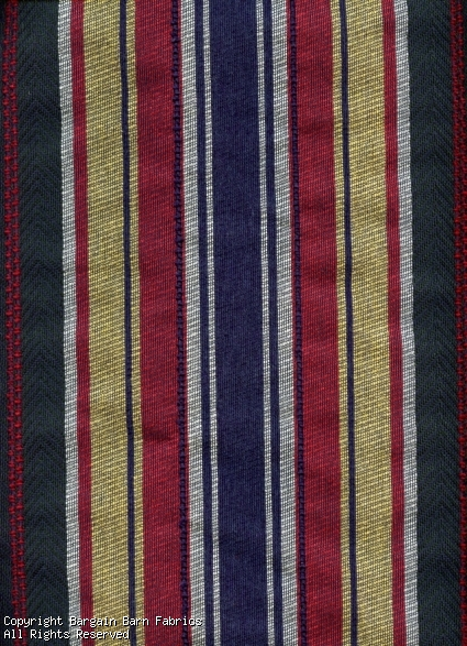 David Rothschild Co., Inc. Stripe Green/Navy/Burgandy/Ivory Widt