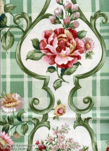 "Rose and Chrysanthemum Medallion ""The Country Fair Collection"" b"
