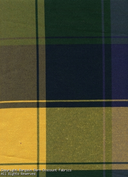 Large Plaid in Green and Yellow