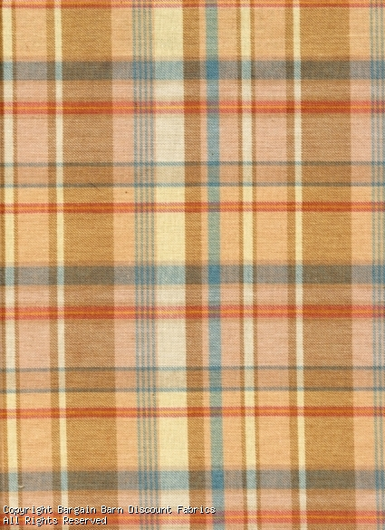 Woven Plaid in Peach