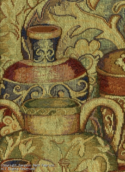Chenille Tapestry Greek Pots--Comfort Colors in Muted Tones