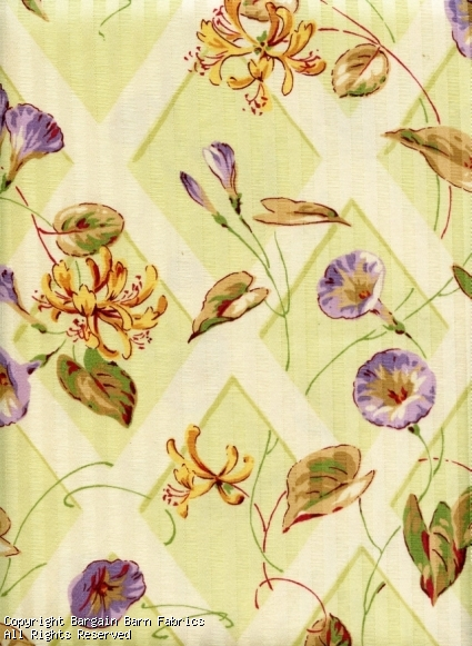 Morning Glory Floral Screen Print by Braemore Textiles