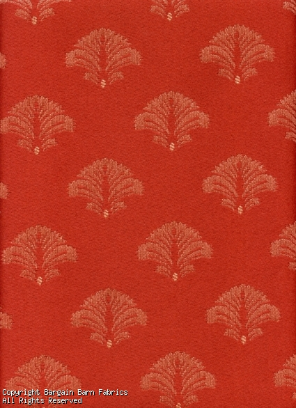 Formal Brick Red Botanical pattern