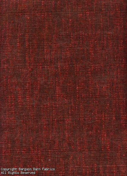 Deep Red Textured Upholstery Fabric
