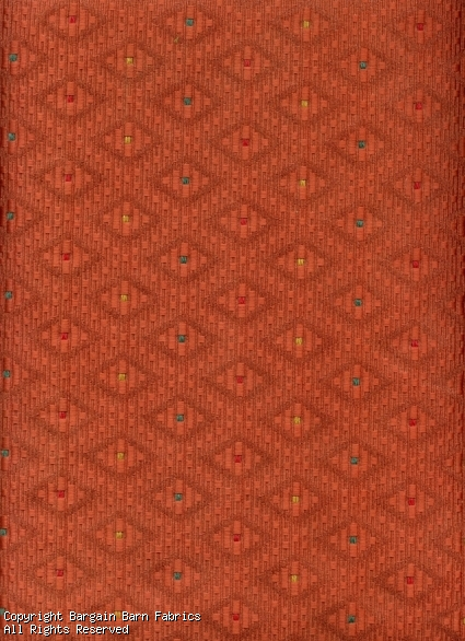 Rust Diamond Jacquard