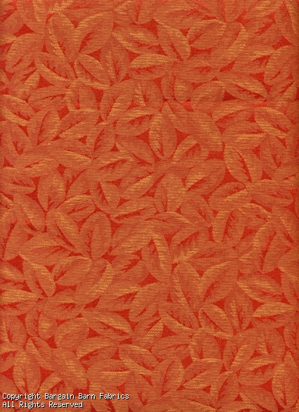 Red Gold Leaf Pattern