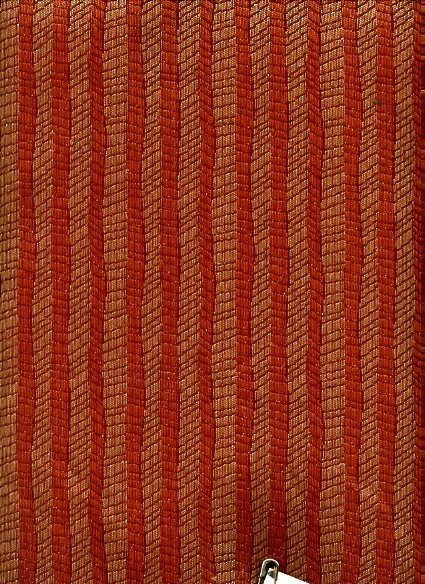 Rust and Gold Stripe Upholstery
