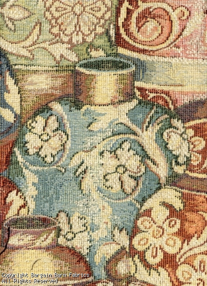 Chenille Tapestry Greek Pots-Vibrant Pastel Colors