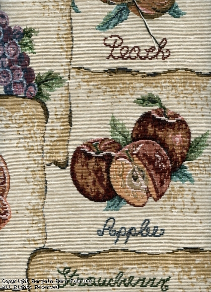 Fruit Tapestry Ivory/Gold Background