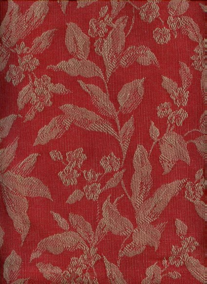 Beautiful Rust and Taupe Jacquard