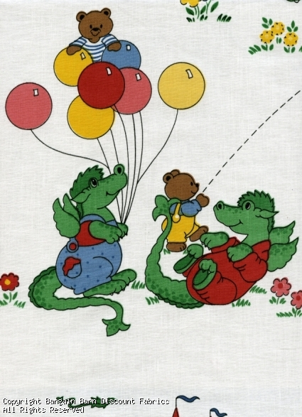 Childrens Novelty Print-Green Dragons