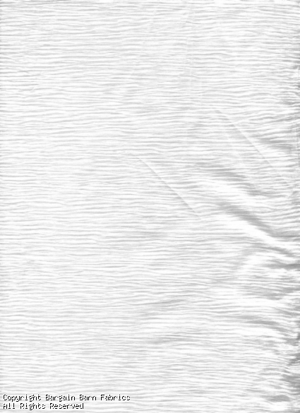 Crystal White Crinkle Sheer