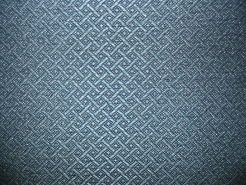 Teal Blue Diamond Woven Pattern on Black