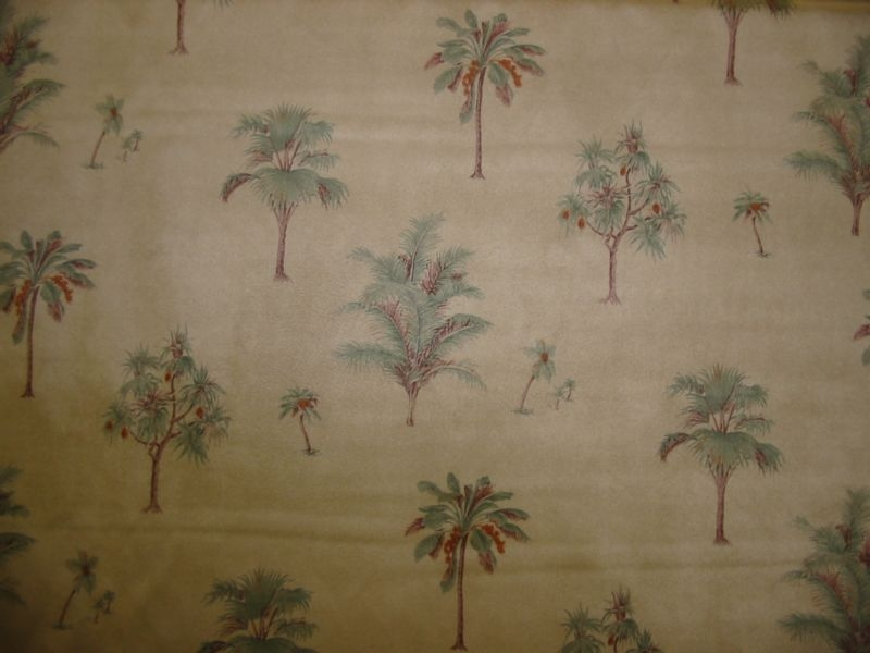 Delux Micro Denier Suede with Palm Trees