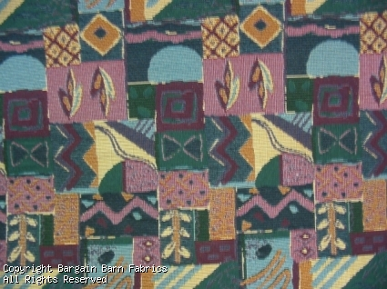 Contemporary Pattern Multi Jewel Tones