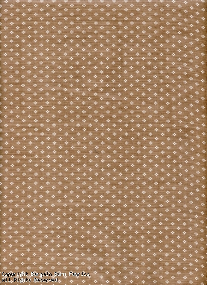 Mini Dot Pattern White on Tan