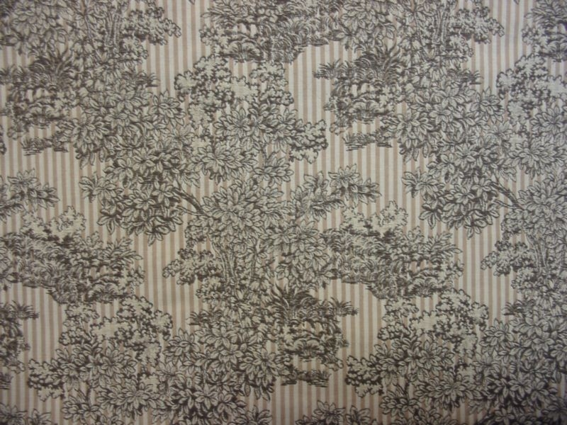 Beautiful Chocolate Brown and Ivory Toille Tapestry
