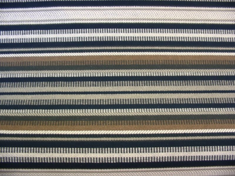 Natural Woven Stripe with Black