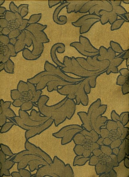 Black and Gold Jacquard in Bold Floral Pattern