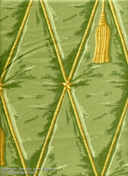Waverly Trompe Loeil Tassel Green and Gold
