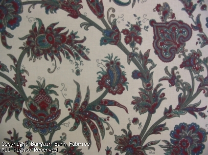 Waverly Style Orient Floral Ivory Background