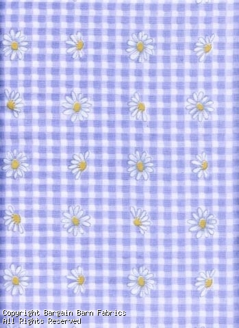 Lavender Check with Daisys--100% cotton