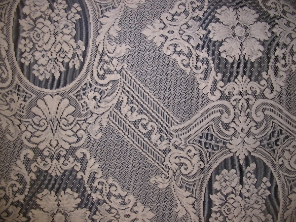"Lace Brown 90"" wide Beautiful Floral Mediallion"