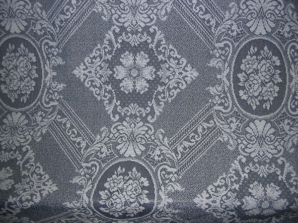 "Lace Blue 90"" wide Beautiful Floral Mediallion"
