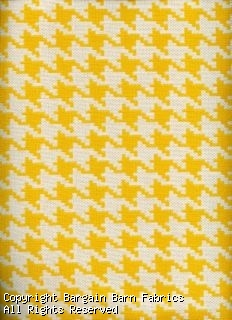 Sunbrella Bryant SunFlower -- Bright Gold and Ivory Herringbone